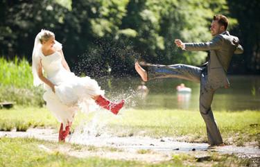 Help, een vlek in mijn trouwjurk!