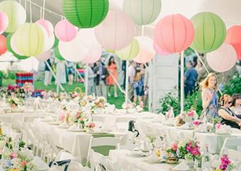 Een gekleurde bruiloft
