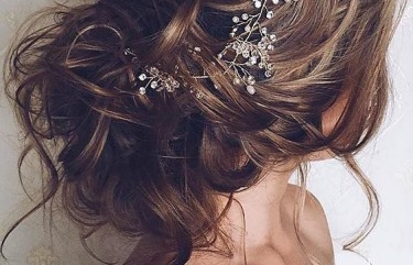 Bridal hair with a twist